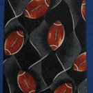 Football Sports Balls A Rogers Necktie Tie Athletic New