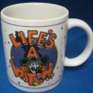 LIFE'S A WITCH COMICAL HALLOWEEN MUG CUP NEW CUTE
