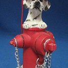 DALMATIAN DOG FIRE HYDRANT CHRISTMAS ORNAMENT NEW CUTE