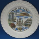VINTAGE NEW ORLEANS AMERICA COLORFUL CITY PLATE NORLEAN
