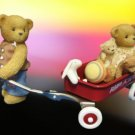 CHERISHED TEDDIES I WON'T BE FAR BEHIND RADIO FLYER NIB