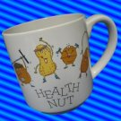 HEALTH NUT WORKOUT EXCERCISE GYM MUG CUP CARLTON CARDS