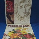 LOT 2 NEEDLEPOINT PROJECTS PATTERN BOOKS CRAFT CRAFTING