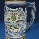 FLORIDA SOUVENIR PINK FLAMINGO PALM TREES STEIN JAPAN