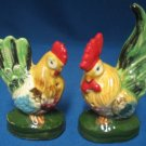 ROOSTER HEN FIGURAL SALT PEPPER SHAKERS JAPAN 1949 VTG