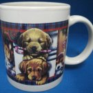 CHRISTMAS HOLIDAY PUPPY DOGS COFFEE MUG CUP LAB BEAGLE