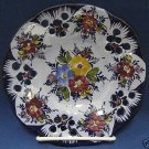 PORTUGAL ART POTTERY PLATE HAND PAINTED FLOWERS PRETTY