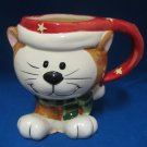 Kitten Cat Footed Mug Cup Christmas Holiday Ceramic New