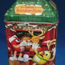 M&M M&Ms CHRISTMAS VILLAGE REINDEER FARM TIN CANISTER