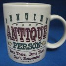 GENUINE ANTIQUE PERSON COFFEE MUG CUP COMICAL NEW