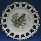VINTAGE ROBIN BIRD PLATE NIKO NIKO CHINA EW1610 JAPAN