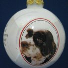 Cocker Spaniel Dog Breed Glass Ball Christmas Ornament