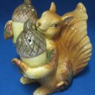 Squirrel w Acorns Autumn Salt Pepper Shakers Set MIB