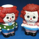 Raggedy Ann Andy Rag Dolls Salt Pepper Shakers Japan