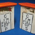 Outhouse Salt Pepper Shakers Florida Souvenir 1950s WOW