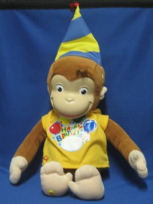 Curious George Monkey Happy Birthday Plush Animal New