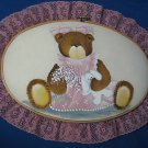 HAND PAINTED TEDDY BEAR DECORATIVE WALL HANGING PRETTY