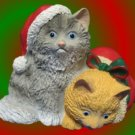 COZY CHRISTMAS KITTENS CATS FIGURINE FIGURE HOLIDAY