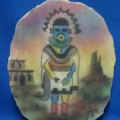 Native Indian Kachina Hand Painted Flagstone Art RARE