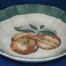 ITALIAN POTTERY TUSCAN FRUIT APPLES PASTA SOUP BOWL