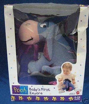 DISNEY BABYS 1st FIRST EEYORE PLUSH MATTEL NEW IN BOX