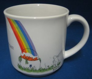 Boynton 24 CARROT DAY Rabbit Rainbow Pot Gold Mug Cup