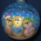 Very Merry Mice Caroling Carolers Glass Ball Ornament