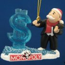 MR MONOPOLY DOLLAR $ ICE SCULPTURE CHRISTMAS ORNAMENT