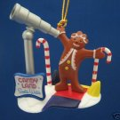 CANDY LAND GINGERBREAD SANTA WATCH CHRISTMAS ORNAMENT