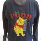Disney Winnie Pooh Christmas Fleece Top Ladies M NWT