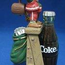 COCA COLA COKE TOPS ON REFRESHMENT ELF XMAS ORNAMENT