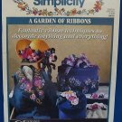 SIMPLICITY GARDEN OF RIBBONS DECORTING CRAFT BOOK 3855