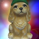 FESTIVE CHRISTMAS PUPPY DOG HAND PAINTED FIGURINE CUTE
