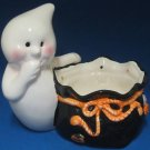 Halloween Ghost Goodies Sack Ceramic Candy Treat Dish