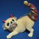 Playful Pouncing PUG Puppy Dog Christmas Ornament New