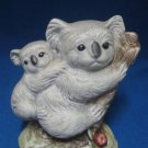 KOALAS Family Mom Baby Ceramic Figurine Statue