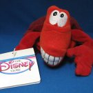 DISNEY LITTLE MERMAID SEBASTIAN BEAN BAG PLUSH 1st MWT