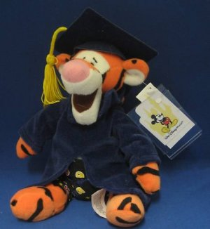 Disney World Grad Night Tigger 1999 Plush MWT Souvenir