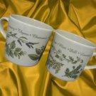 TIMLESS HERBS CORELLE COORDINATES 2 MUGS CUPS STONEWARE