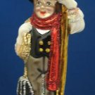 CHIMNEY SWEEP BLOWN GLASS CHRISTMAS ONAMENT NEW MINT