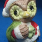 CHRISTMAS OWL BIRD SANTA W SACK HOLIDAY FIGURINE STATUE