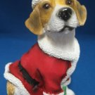 Beagle Puppy Dog Santa Suit Christmas Figurine New