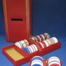 Gambling Poker Chips Kaddy Caddy Case Trays Vintage MIB