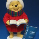 CLOTHTIQUE DISNEY POOH CHRISTMAS CAROLER FIGURE NWT
