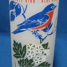 Missouri State Flower Bird Frosted Ice Tea Glass Vtg
