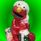 SESAME STREET MUPPETS ELMO GLASS CHRISTMAS ORNAMENT NIB