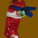 SESAME STREET ELMO PLUSH CHRISTMAS STOCKING MUPPET NWT