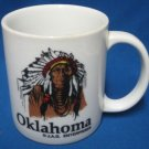 Oklahoma Native Indian Chief Feather Headdress Mug Cup