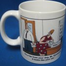 Far Side Fax From Dog Its the Cat Mug Cup Gary Larson