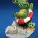 ALLIGATOR Swimmer Piranhas Figurine Statue Comical Fun